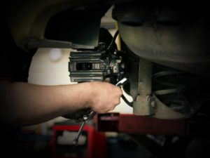 Engineering on an engine