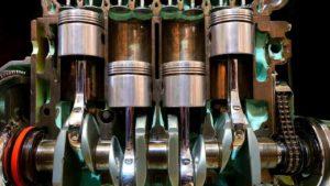 Cutaway engine in profile